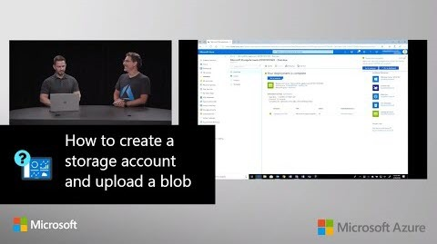 Thumbnail from How to create a storage account and upload a blob on YouTube