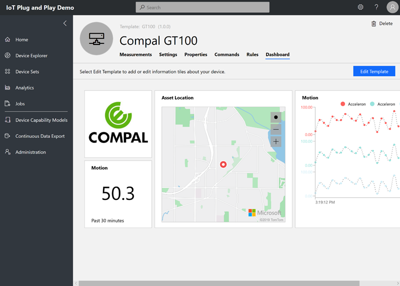 Compal GT100 tracker enabled with IoT Plug and Play