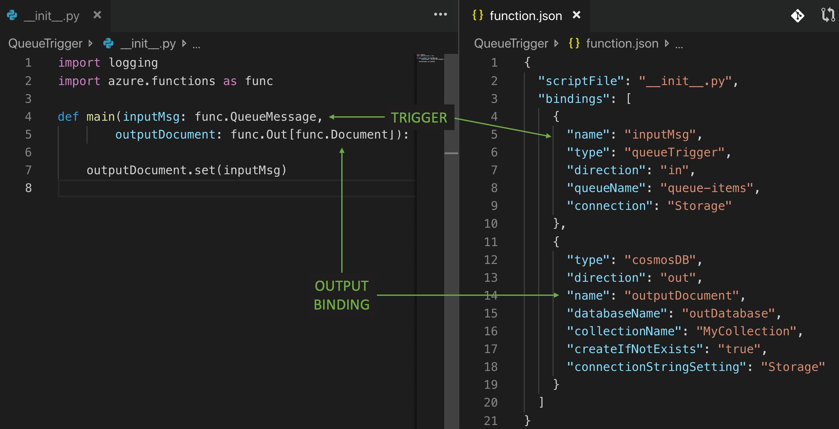 Azure Functions のキュー トリガーの例