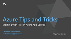 Screenshot from How to work with files in Azure App Service video