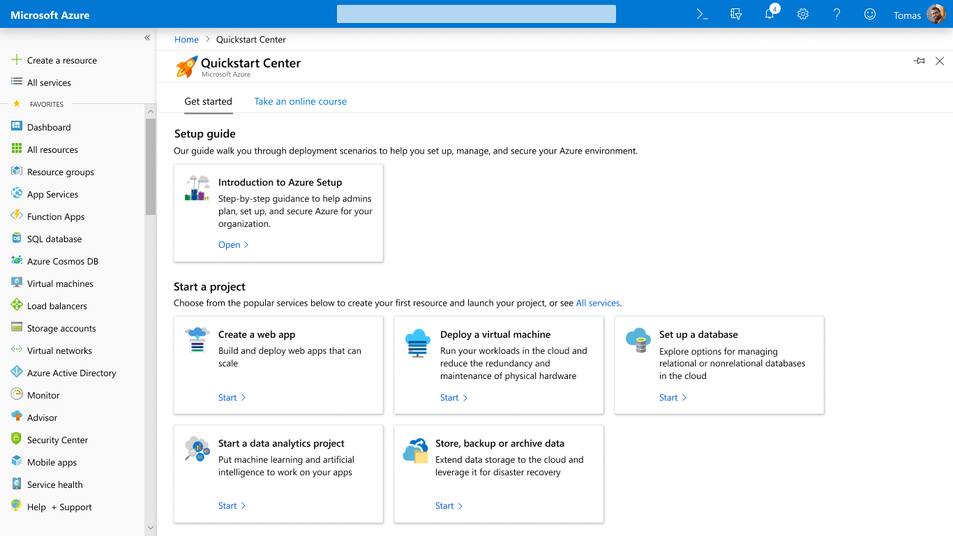Azure Quickstart Center