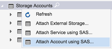 Storage Explorer - attach with SAS