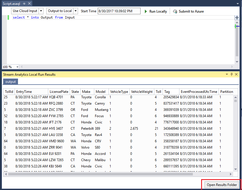 Live data testing in Visual Studio