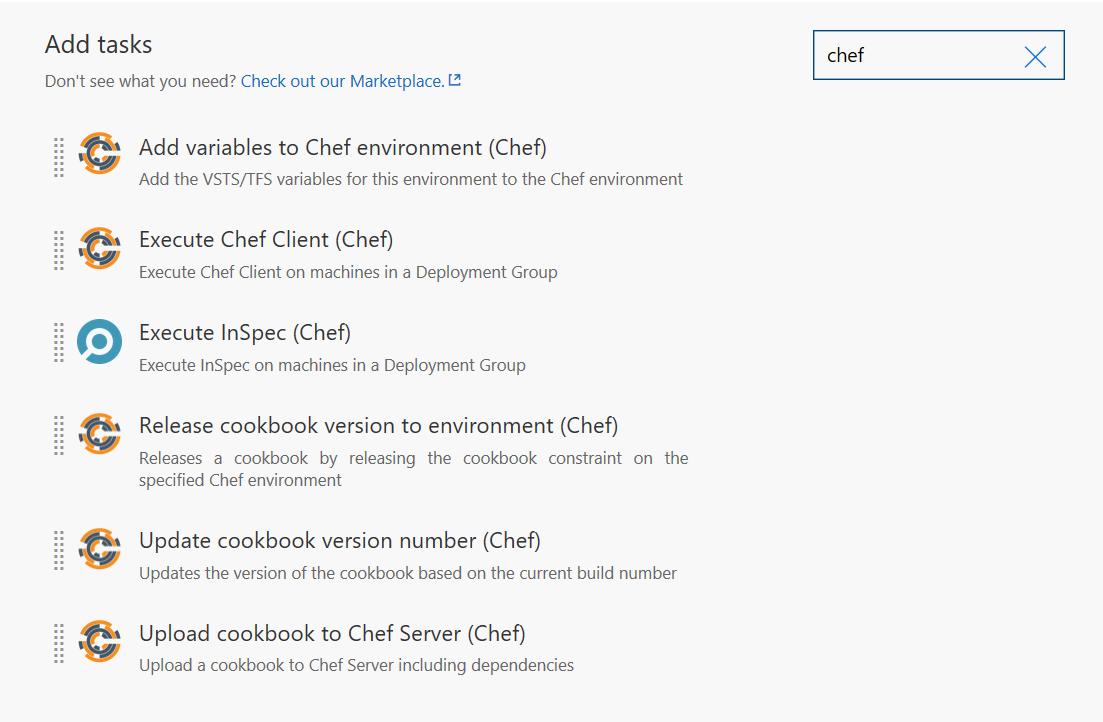 chef tasks