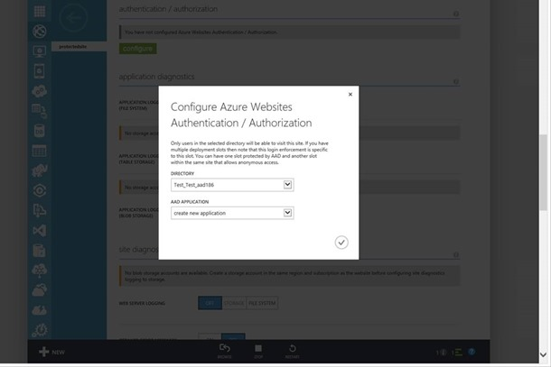 Azure Website Authentication /Authorization