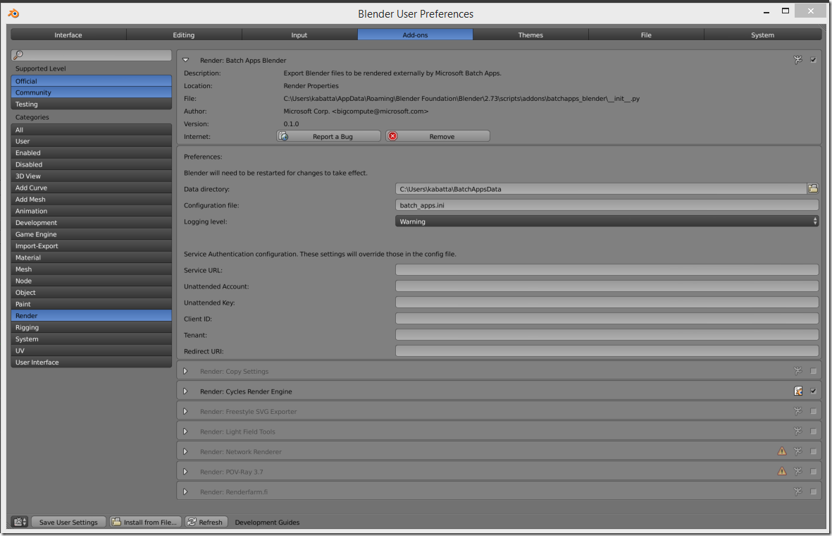 Enable Blender Plug-in