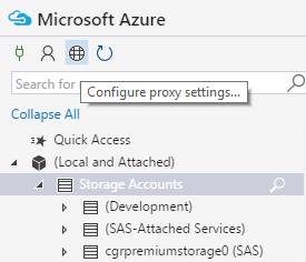 Proxy - Microsoft Azure Storage Explorer