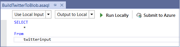 An image showing how to select your input for a new region.