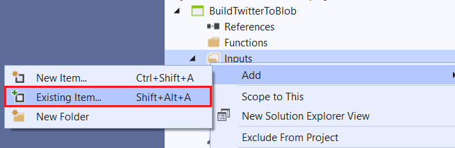 An image showing how to organize the inputs, outputs, and functions in a standalone folder