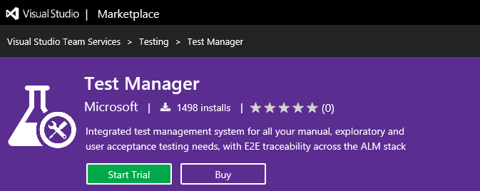 start trial for test manager