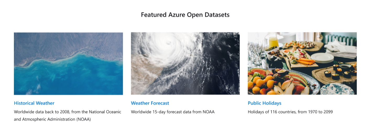 Azure Open Datasets