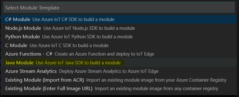 Select Module Template