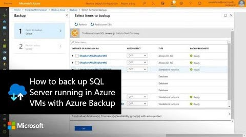 Thumbnail from How to back up SQL Server running in Azure VMs with Azure Backup