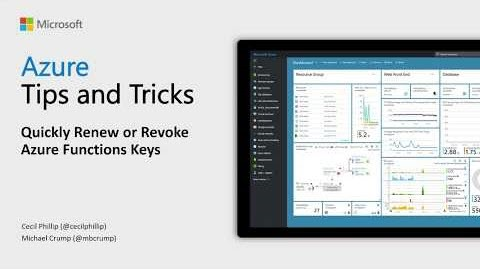 Thumbnail from How to renew or revoke Azure Functions keys by Azure Tips & Tricks from YouTube