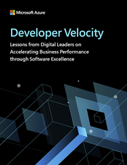 Developer Velocity report screenshot.