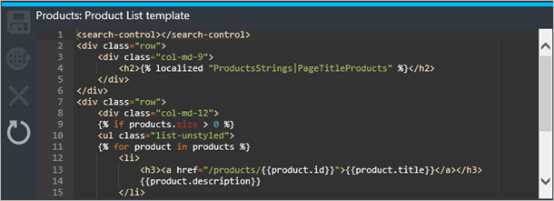 API Management Product List template