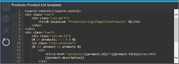 Modèle Liste de produits de Gestion des API