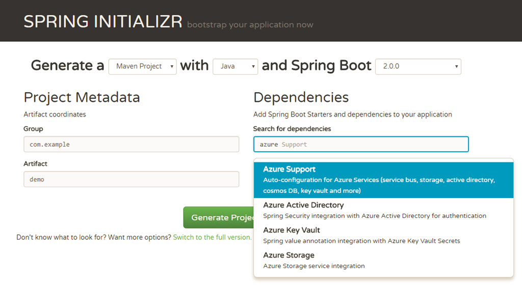 Build Spring Boot 2 0 apps with Azure Starters and new VSCode
