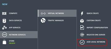 Add Local Network UI Wizard