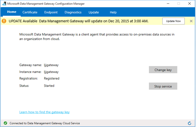 Data Management Gateway auto-update is available | Blog