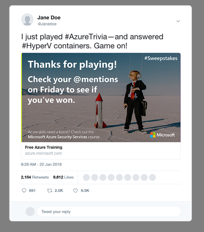 Azure_Trivia_Blog_Sample_Tweet