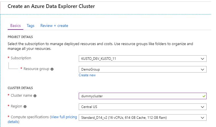 Data explorer screenshot