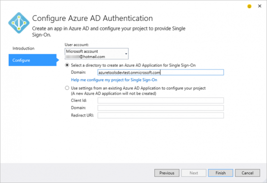 Configure Azure AD Authentication