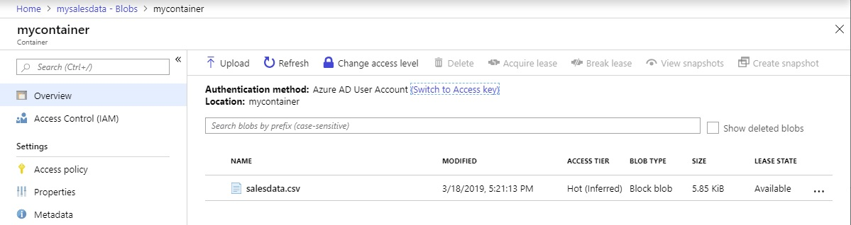 Browse Azure Storage blobs using the Azure portal