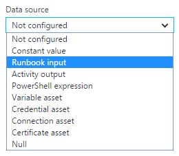 Activity Parameter Configuration DataSources