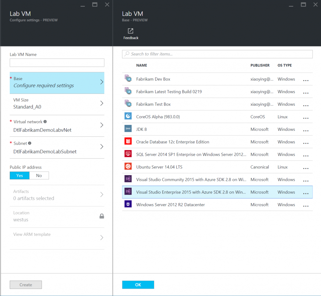 Azure Marketplace images as VM Bases