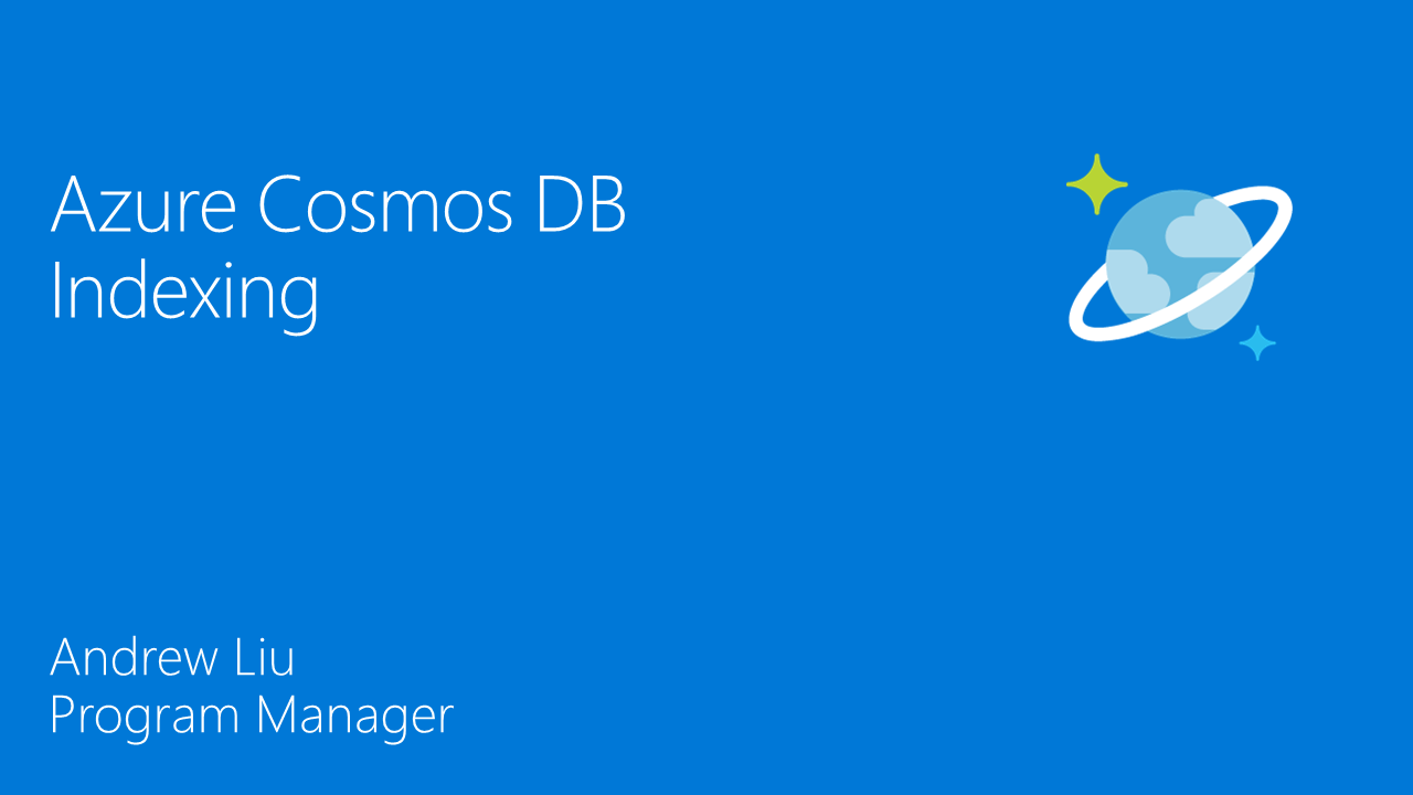Azure Cosmos DB Indexing