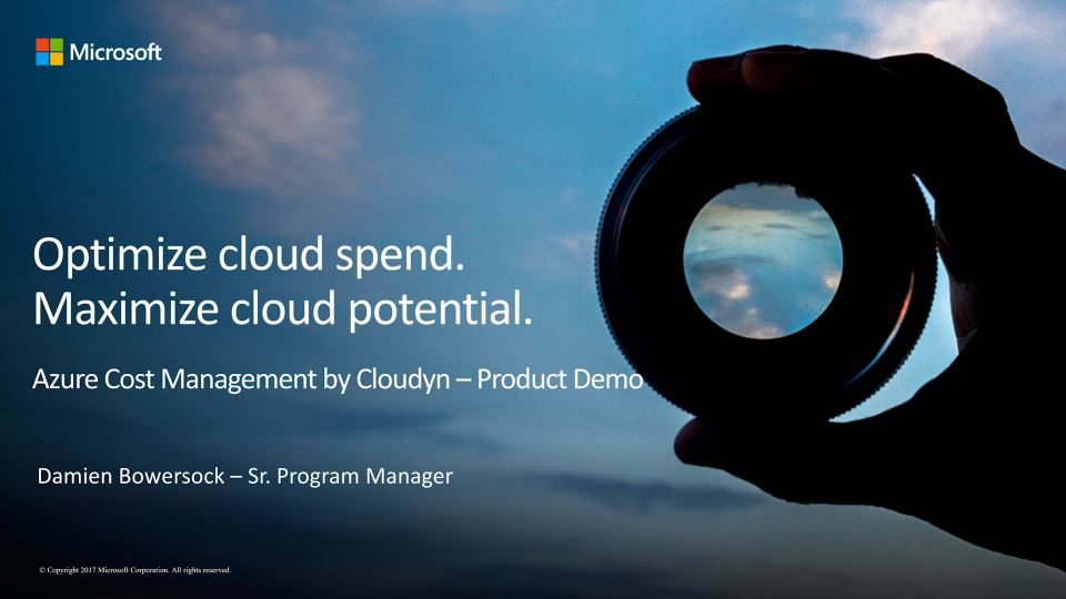 Azure Cost Management by Cloudyn—Product Demo