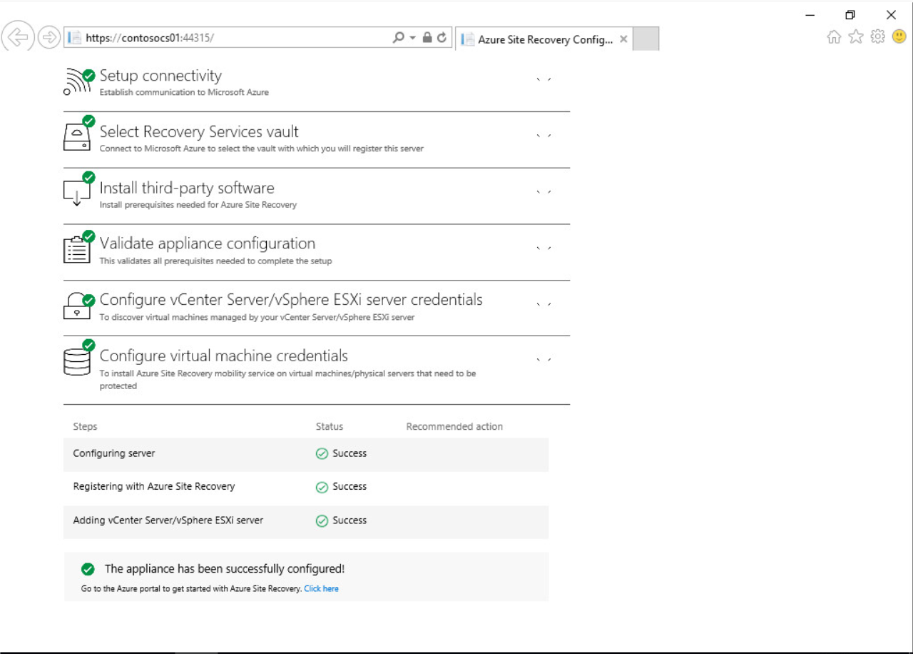 Azure Site Recovery Onboarding Experience