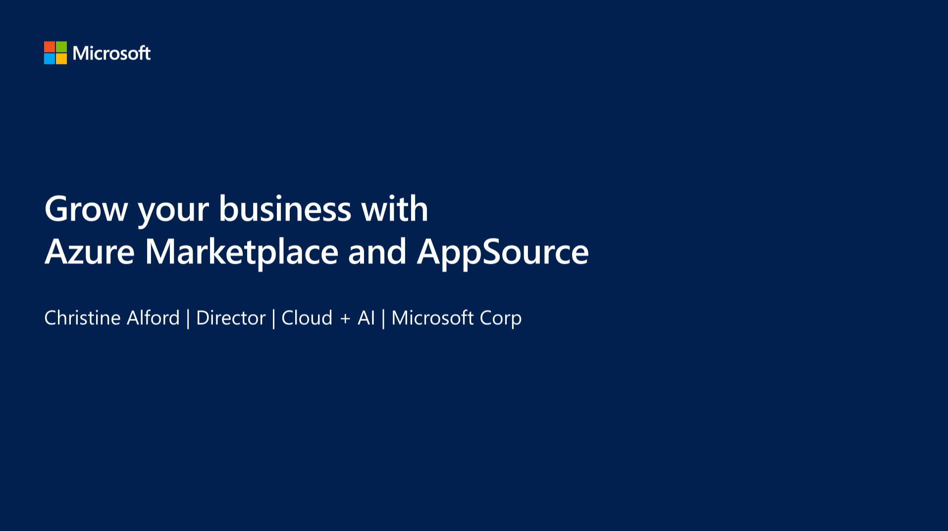 Grow Your Business with Azure Marketplace and AppSource