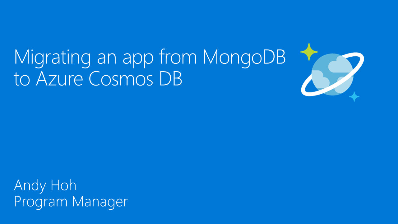 Migrating an app from MongoDB to Azure Cosmos DB