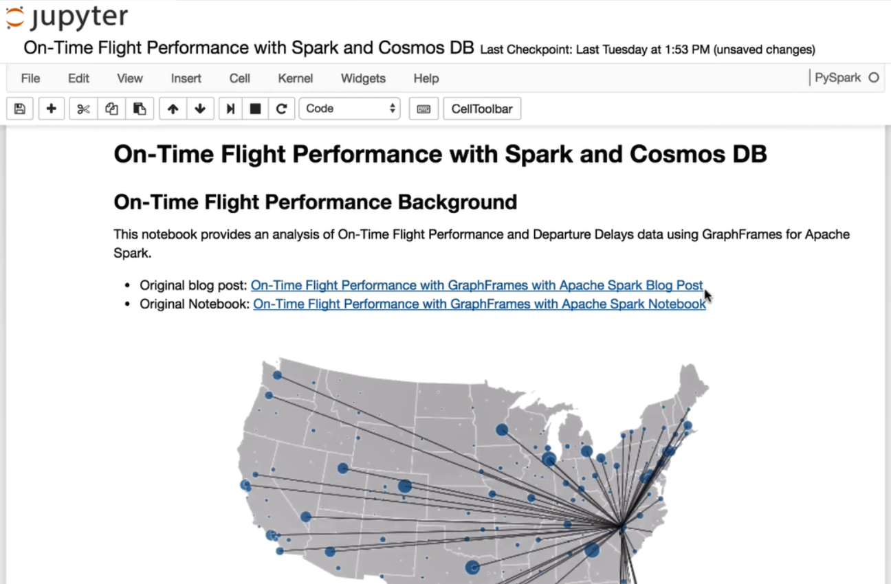 On-Time Flight Performance Demo using Apache Spark and Azure Cosmos DB