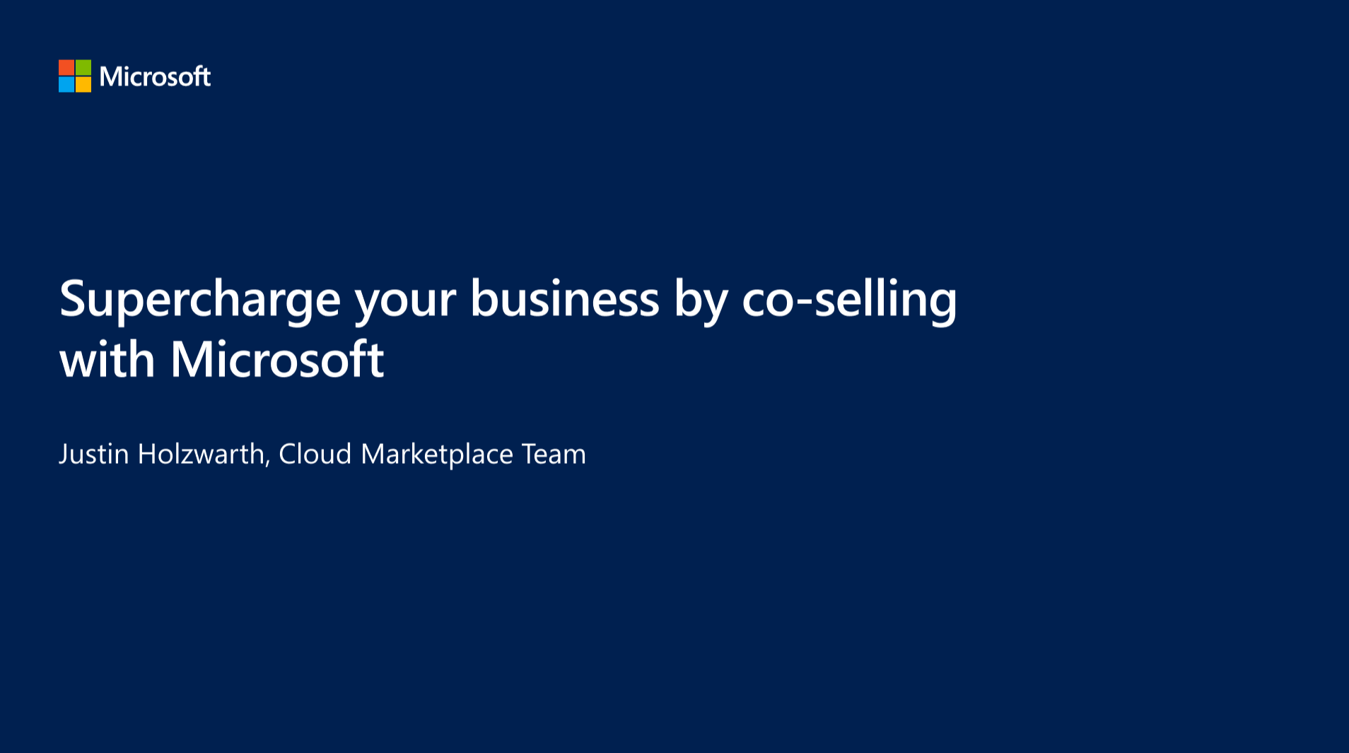 Supercharge Your Business by Co-Selling with Microsoft