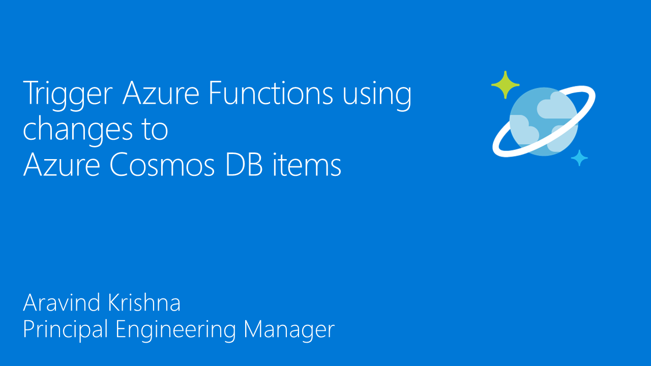 Trigger Azure Functions using changes to Azure Cosmos DB items